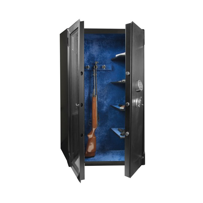 Weapon safe Luka with armored glass and cache Budapest