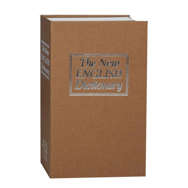 Металева коробка кешбокс TS 0209M у вигляді книги з кодовим замком