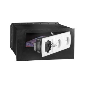 Mini safe hiding place disguised as 3 electrical outlets