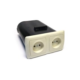 Mini-safe stash on 2 sockets