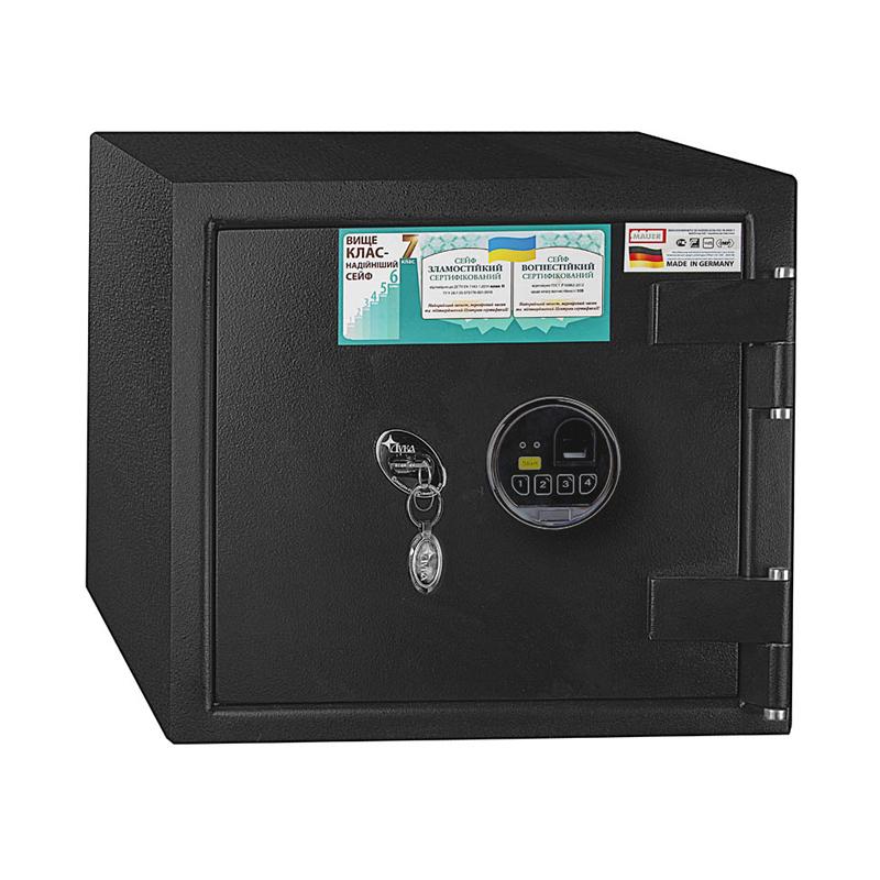 сейф с биометрическим кодовым замком luka bns-mt-2bkl